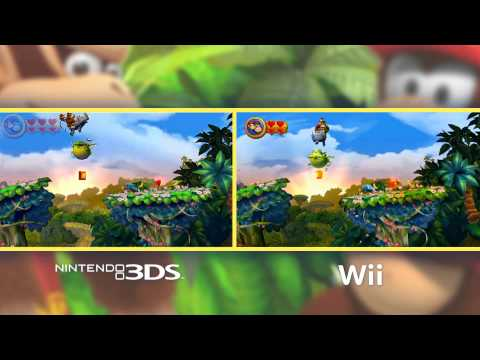 Video Comparison - Donkey Kong Country Returns on 3DS &amp; Wii