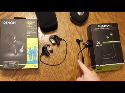 JayBird Bluebuds X vs Denon Exercise Freak wireless in-ear headphones