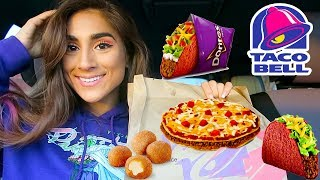 TACO BELL MEXICAN PIZZA AND TACOS MUKBANG!!