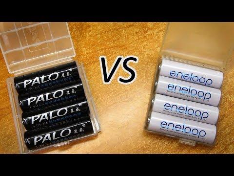 Аккумуляторы АА с низким саморазрядом PALO. Минитест-сравнение с Eneloop.