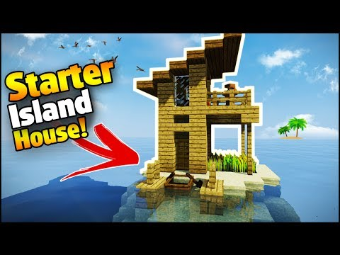Minecraft: Island Starter House Tutorial - How to Build a House in Minecraft