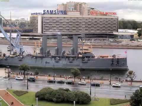 Возвращение крейсера Аврора в Санкт-Петербург timelapse 1440p