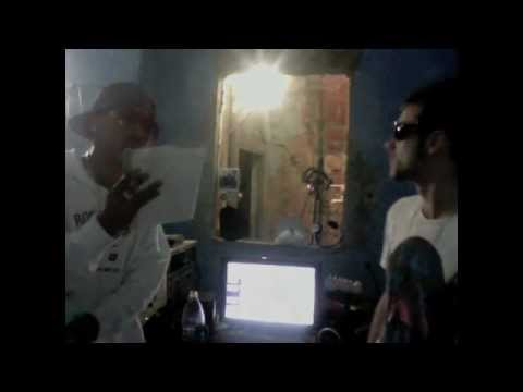 Mc Ardilla Y Keller grabando for my GHETTO en el estudio-