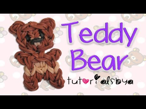 Teddy Bear Charm/Figurine Rainbow Loom Tutorial