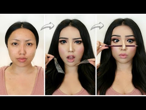 I followed VIRAL ASIAN MAKEUP TRANSFORMATIONS!!! thumbnail