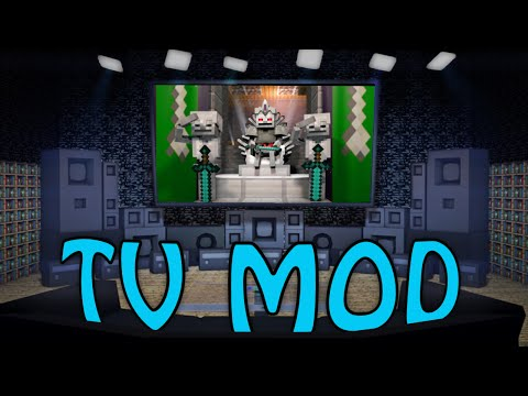 Minecraft | TV MOD Showcase! (COMPUTER MOD, TV MOD, FURNITURE MOD)