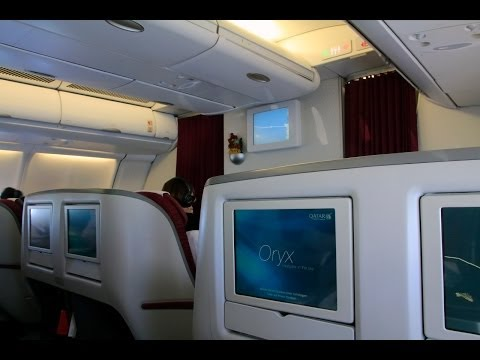 Qatar Airways A332 BCN-DOH Business Class Experience
