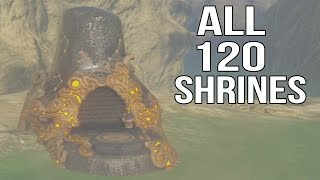 Zelda Breath of the Wild - All 120 Shrines