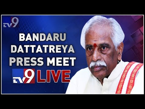 BJP Leader Bandaru Dattatreya Press Meet Live || Hyderabad - TV9