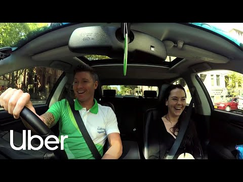 Michael Clarke drives with Uber!