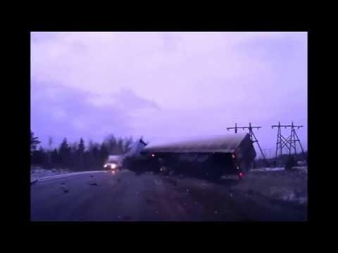 Car Flips Truck Over