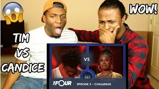 Tim vs Candice: This CRAZY Battle Will Give You GOOSEBUMPS! | S1E3 | The Four (REACTION)
