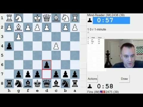 Bullet Chess #269: 12 games in the ICC 1-minute pool