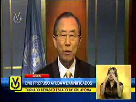 Ban Ki Moom propone ayuda internacional a los afectados por tornado de Oklahoma