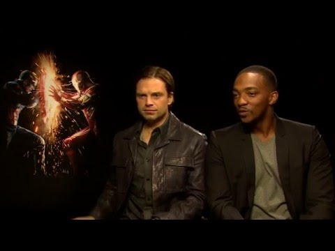 Anthony Mackie and Sebastian Stan on Batman v Superman: Dawn of Justice!