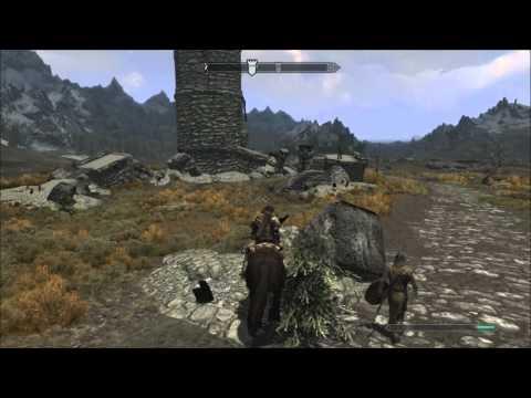 Skyrim - My horse is amazing! (Flying NPC horse glitch)