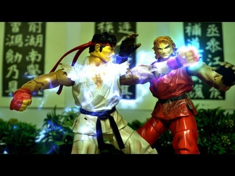 Street Fighter Stop Motion - Ryu VS Ken 龍與肯