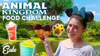 Ultimate Animal Kingdom Food Challenge: Trying ALL Of The Disney World Treats