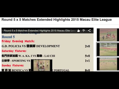 Round 5 x 5 Matches Extended Highlights 2015 Macau Elite League