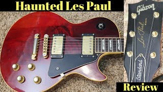 The Seller Says this Guitar is Haunted... Here's Why!   1976 Gibson Les Paul Standard Wine Red Demo