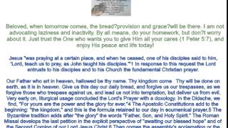 Joseph Prince Today's Bread Is Not For Tomorrow 6 18 2014 AVI