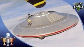 GTA 5 -  Flying UFO #3 Easter Egg Over Sandy Shores - Illuminati UFO Easter Eggs [100%]