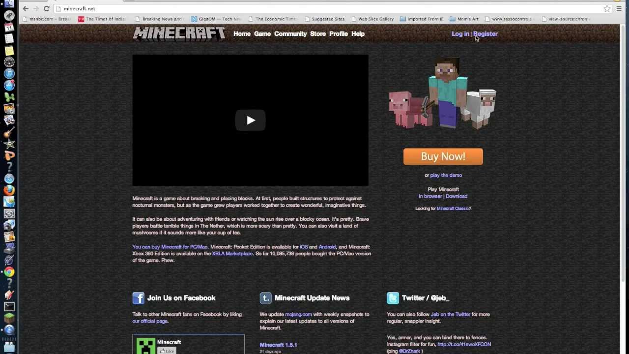 how to get minecraft for free on mac full version