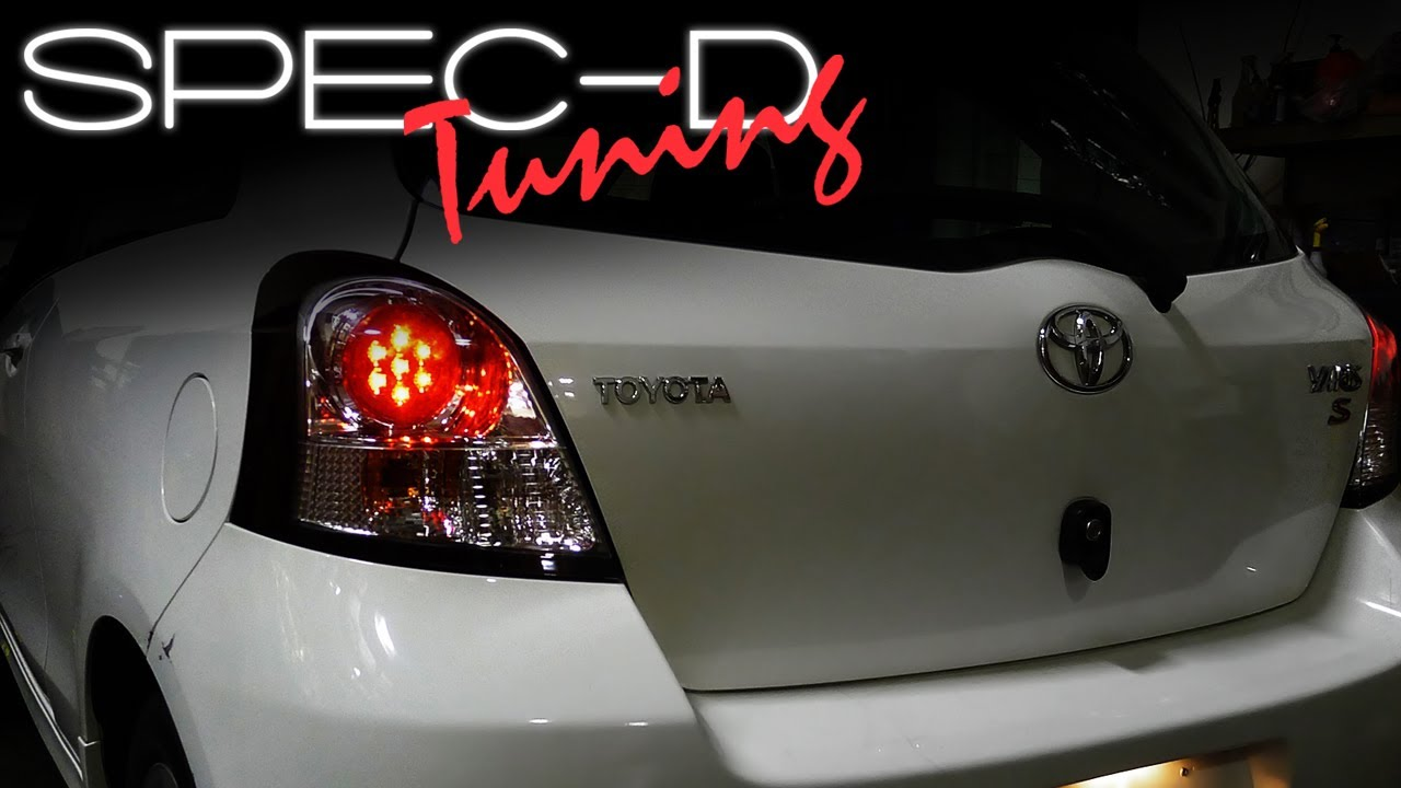 Led Lights For Cars >> SPECDTUNING INSTALLATION VIDEO: 2006-2008 TOYOTA YARIS HATCHBACK 3DR LED TAIL LIGHTS - YouTube
