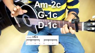 Como tocar All of me JOHN LEGEND tutorial guitarra