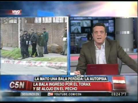 C5N - POLICIALES: LA MATO UNA BALA PERDIDA, LA AUTOPSIA