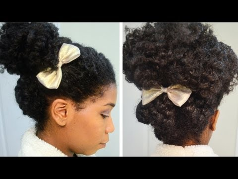 A Quick Casual Holiday Updo! Natural Hair