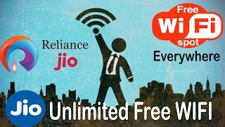 Jio Unlimited Free WIFI   Reliance Jio Free WIFI Zone   Jio Hotspot Free
