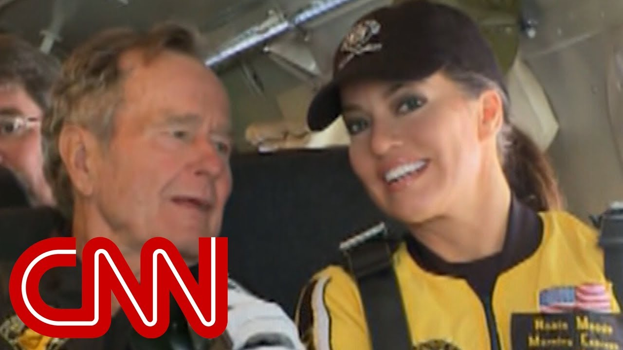 Robin Meade goes skydiving with George H.W. Bush
