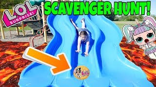 LOL Surprise Confetti Pops Scavenger Hunt At The Playground! Part 3