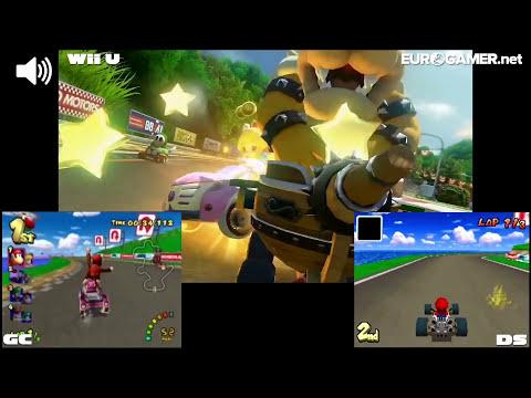 Mario Kart 8 - Yoshi Circuit DLC Retro Track Comparison - Eurogamer