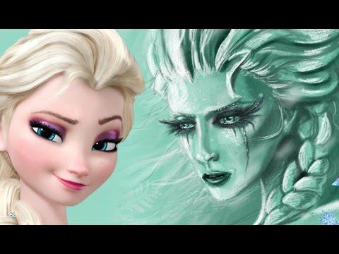 Realistic Elsa Speedpainting!! by Davide Ruvolo speedpainter!