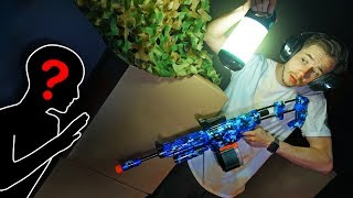NERF Hide & Seek In The Dark Challenge!