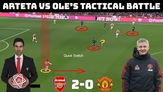 Tactical Analysis: Arsenal 2-0 Manchester United | Arteta vs Solskjaer |Tactical battle