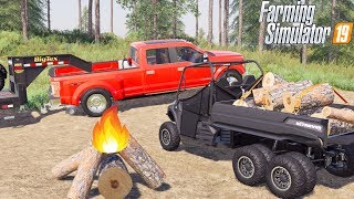 CAMPING WITH 6x6 MAHINDRA | GRIZZLY MOUNTAIN CLIMB | FARMING SIMULATOR 2019