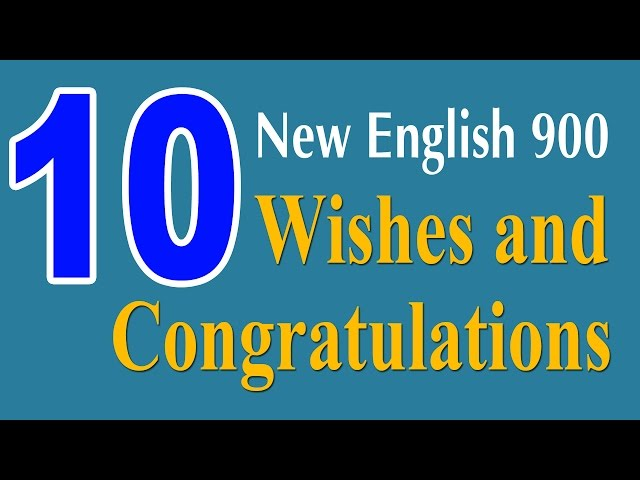 Learning English Speaking Course - New English Lesson 10 - Wishes and Congratulations