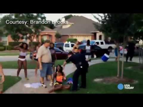 """The teens who organized the McKinney, Texas pool party that ended with a police officer pulling a gun on unarmed teens said the officer """"was just aggressive for no reason."""" That officer is..."""