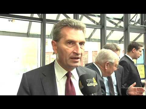 Energiewende im Fokus: EU-Kommissar Günther Oettinger bringt europäische Sicht nach Memmingen