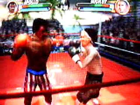Rocky the Game NGC fight againest friend 9 Apollo Creed Vs ...