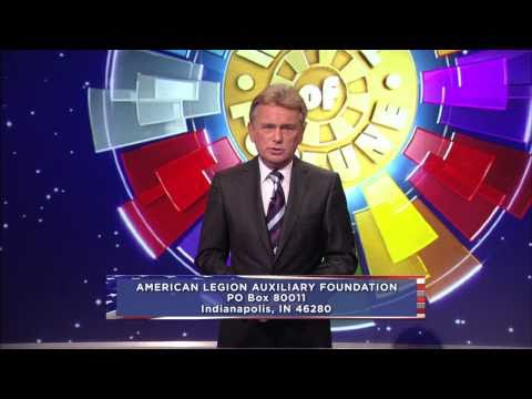American Legion Auxiliary Foundation Pat Sajak PSA 60-second