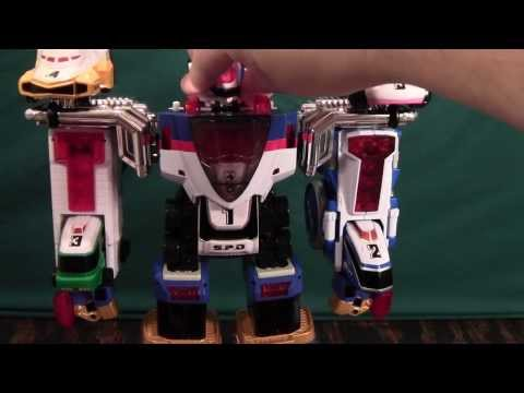 Power Rangers SPD Omegamax Megazord and Deltamax Megazord Review (Cycle Dekaranger Dekabike Robo)