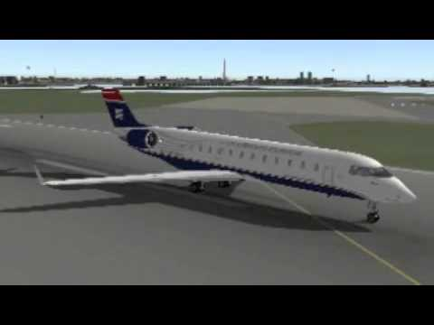 US Airways Express CRJ-200 Washington Reagan - Detroit