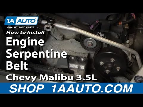 How to Install Replace Engine Serpentine Belt Chevy Malibu 3.5L 04-08 1AAuto.com