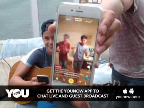 LIVE on YouNow August 28, 2016