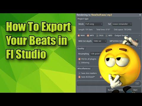 How To Export Your Beats In Fl Studio