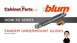 How to Install Blum Tandem Drawer Slides with Blumotion - CabinetParts.com